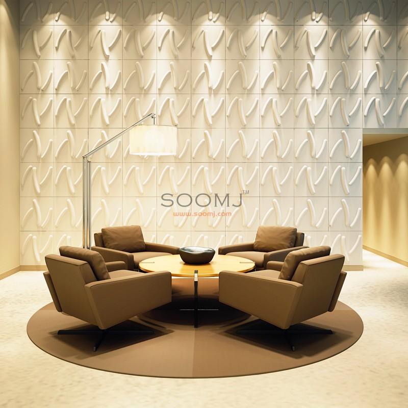 3 Dimensional Wall Tiles 3D Wall Panels Plant Fiber Material(set of ...
