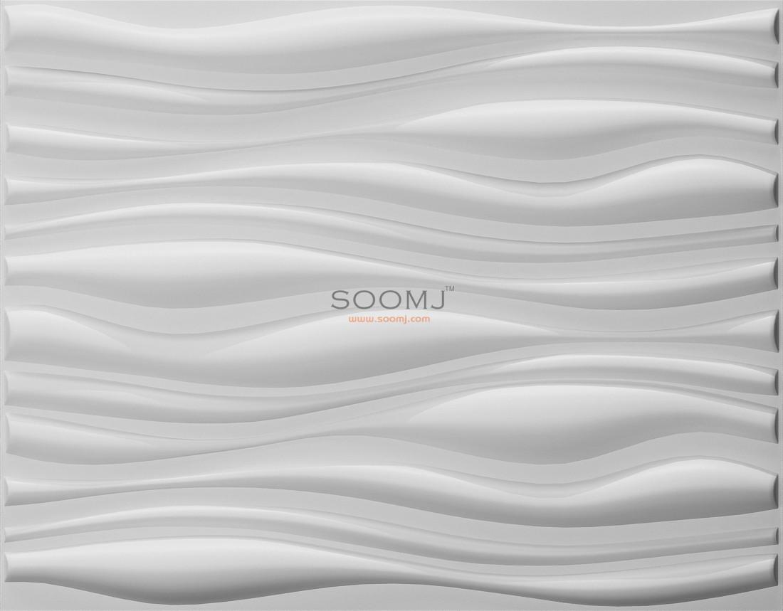 Embossed Effect Decorative 3d Wall Panels Plant Fiber
