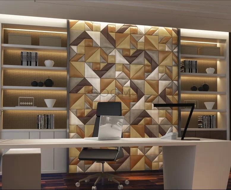 Quality 3d Leather Panels Faux Leahter Glue Up Tiles One Square Meter A29ot Puzzle Mosaic 3d
