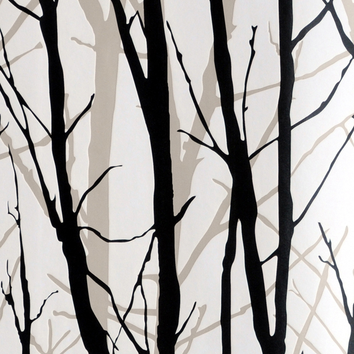 Textured Tree Forest Woods Wallpaper PVC Wall Paper
