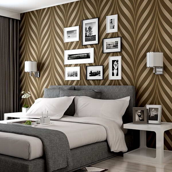 new high quality modern luxury photo 3d striped wallpapers. Black Bedroom Furniture Sets. Home Design Ideas