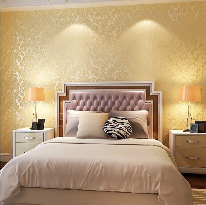 European Vintage Luxury Damask Wall paper PVC Embossed Textured ...