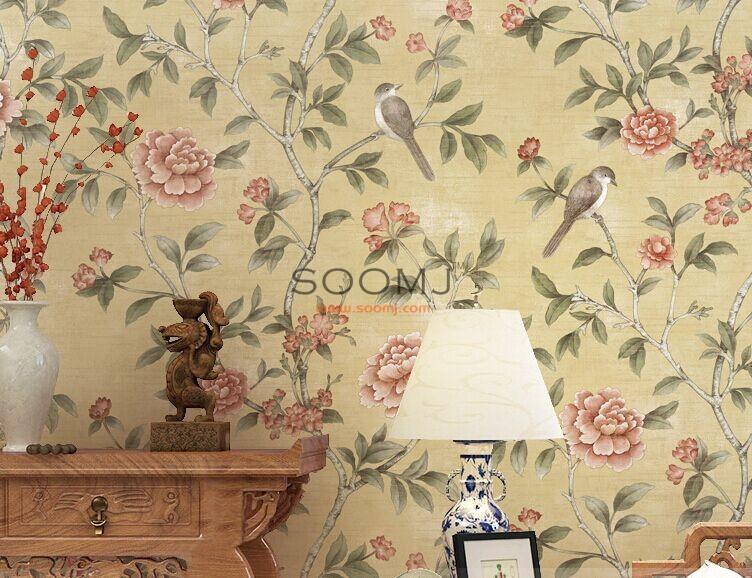 asian style wallpaper oriental bird wallpaper p17sa16601