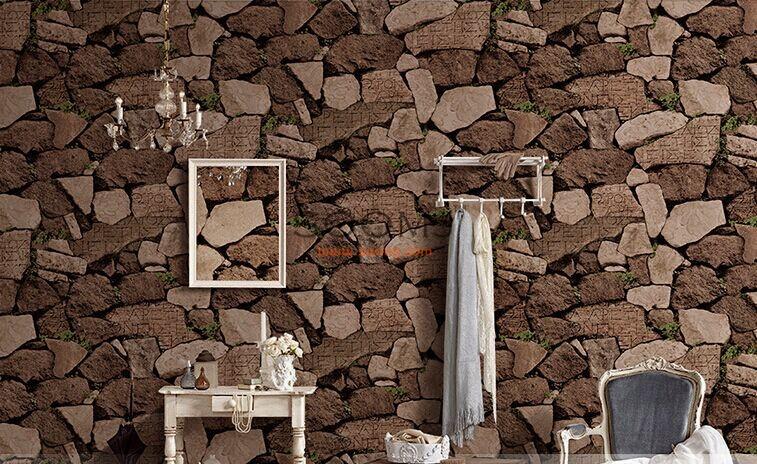 Brick Stone Effect Wallpaper