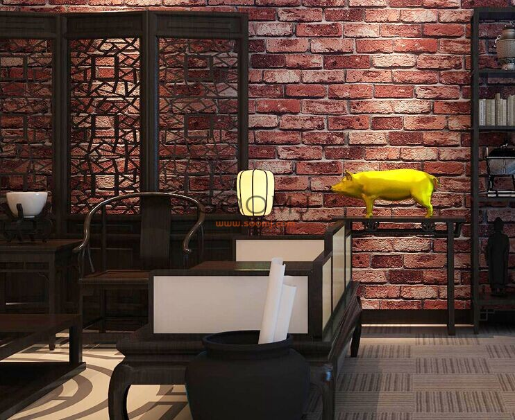 Brick Stone Effect Wallpaper