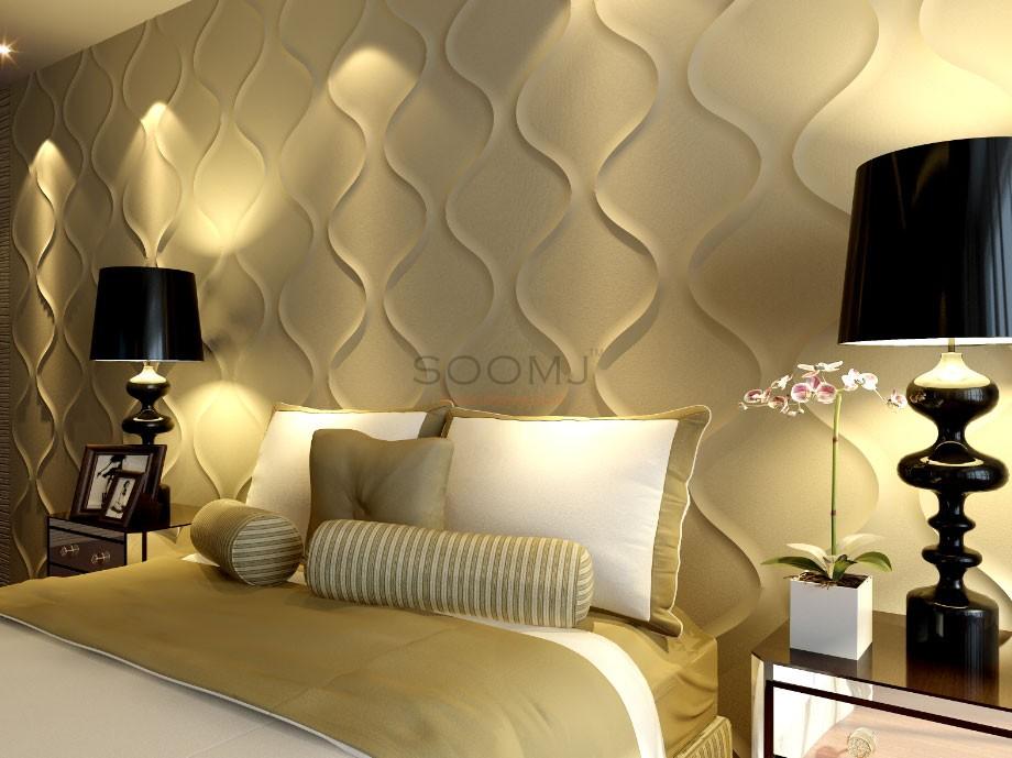 Textured Tiles 3d Wall Panels Plant Fiber Material Set Of