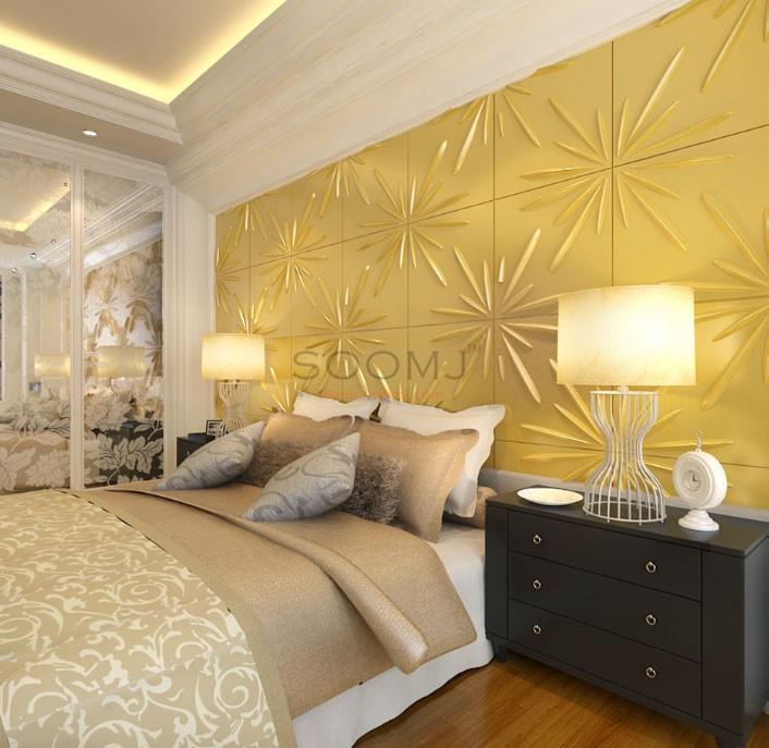 Textured Tiles 3D Wall Panels Plant Fiber Material(set of 12) #B2855026