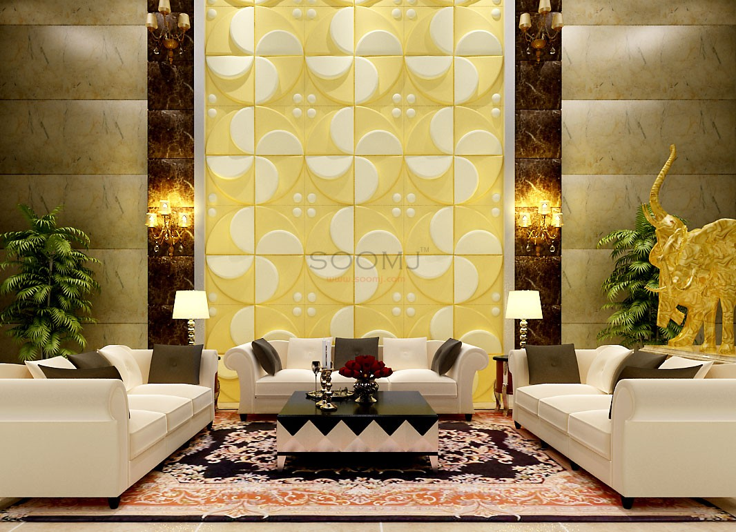 Textured Tiles 3D Wall Panels Plant Fiber Material(set of 12) #B2855026