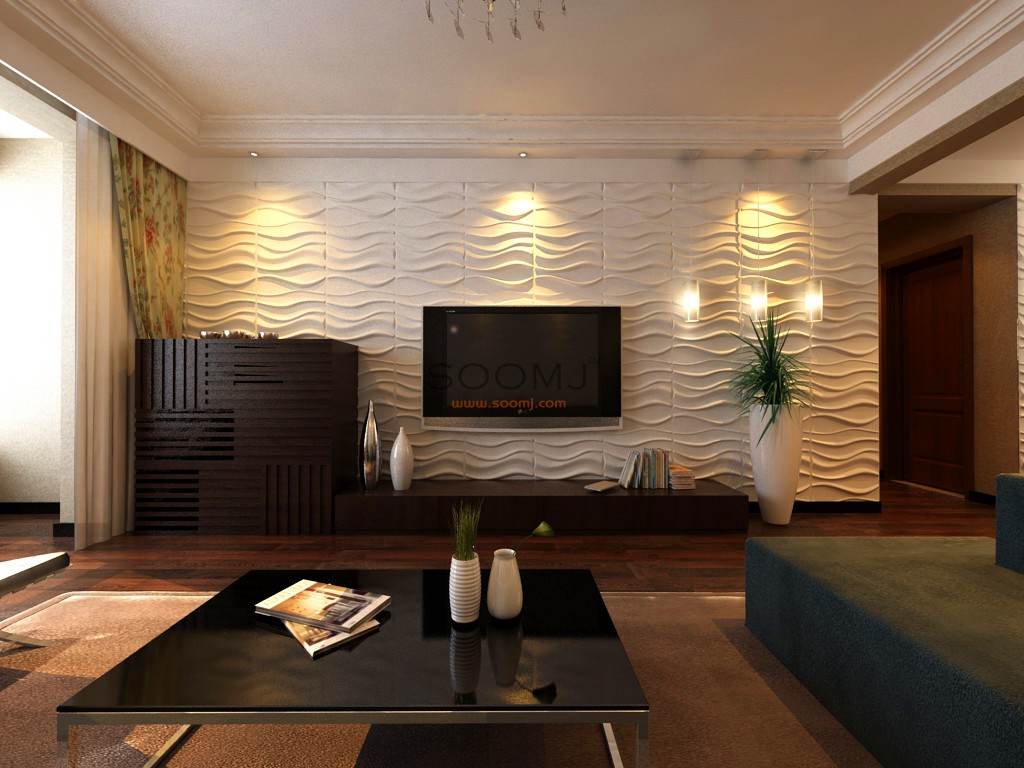 Wall Panels Wave Textures Designs Set Of 12 B2855008