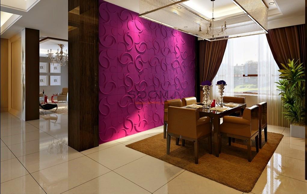 Three D Wall Tiles Panels Plant Fiber Material Set Of 12 B2855021