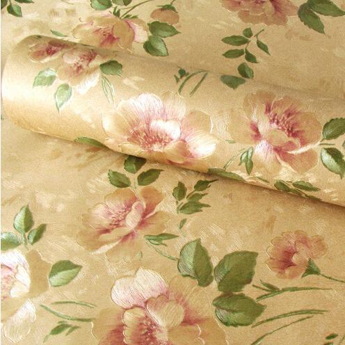 rose flower romantic floral pvc vinyl wallpaper for bedroom living room girls room desktop 3d. Black Bedroom Furniture Sets. Home Design Ideas