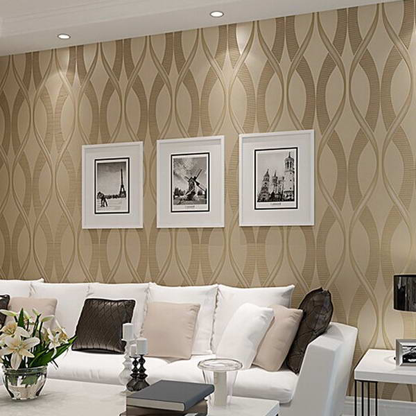 Modern Striped Wallpaper Designs For Background Art Purple Beige Dak Khaki Glitter Wall Paper Papel De Parede Tapete C17sn39015